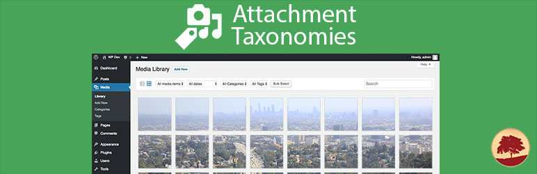 WordPress多媒体库添加分类和标签插件 – Attachment Taxonomies