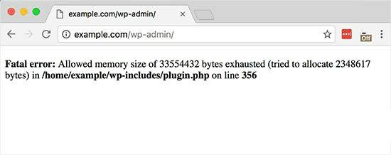 WordPress内存溢出out of memory错误的解决方法